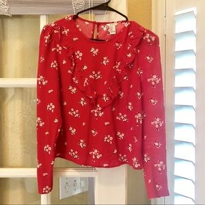 Forever 21 Floral Long Sleeve Top